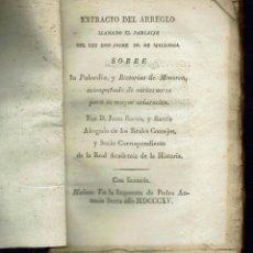 Libros antiguos: EXTRACTO DEL ARREGLO LLAMADO EL PARIATJE. POR JUAN RAMIS Y RAMIS. AÑO 1815. (MENORCA.2.3). Lote 161664890