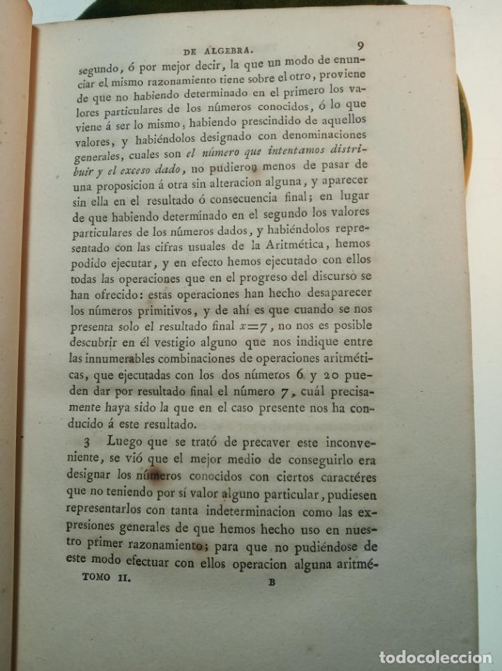 Libros antiguos: CURSO COMPLETO ELEMENTAL DE MATEMÁTICAS PURAS - TOMO II - ALGEBRA - MADRID - 1840 - - Foto 5 - 161913690