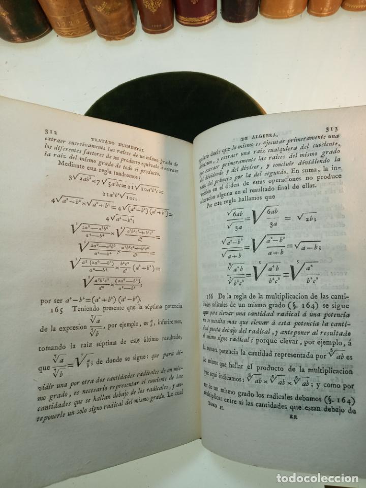 Libros antiguos: CURSO COMPLETO ELEMENTAL DE MATEMÁTICAS PURAS - TOMO II - ALGEBRA - MADRID - 1840 - - Foto 7 - 161913690