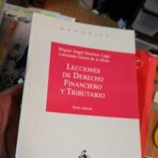 Libros antiguos: LECCIONES DE DERECHO FINANCIERO Y TRIBUTARIO. MIGUEL ANGEL MARTINEZ LAGO. LEONARDO GARCIA DE LA MORA. Lote 161955074