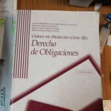 Libros antiguos: CURSO DE DERECHO CIVIL. DERECHO DE OBLIGACIONES 2ª EDICIÓN AÑO 2008. Lote 161955246