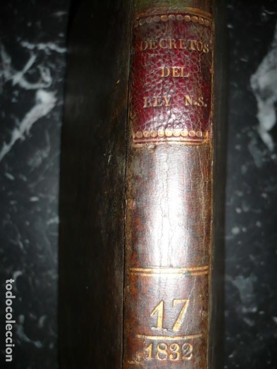 Libros antiguos: DECRETOS DEL REY DON FERNANDO VII Y LA REINA JOSEF MARIA DE NIEVA 1833 MADRID TOMO. 17 - Foto 14 - 162122794