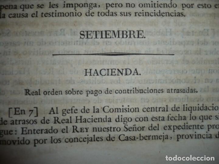 Libros antiguos: DECRETOS DEL REY DON FERNANDO VII Y LA REINA JOSEF MARIA DE NIEVA 1833 MADRID TOMO. 17 - Foto 8 - 162122794