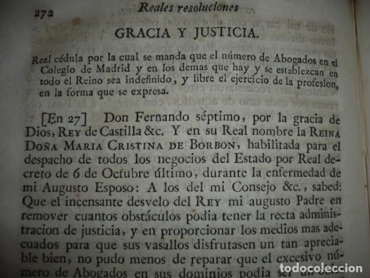 Libros antiguos: DECRETOS DEL REY DON FERNANDO VII Y LA REINA JOSEF MARIA DE NIEVA 1833 MADRID TOMO. 17 - Foto 9 - 162122794