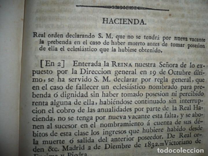 Libros antiguos: DECRETOS DEL REY DON FERNANDO VII Y LA REINA JOSEF MARIA DE NIEVA 1833 MADRID TOMO. 17 - Foto 13 - 162122794