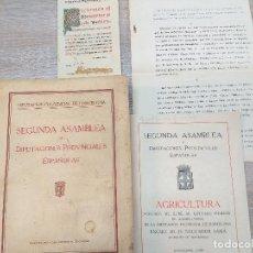 Libros antiguos: SEGUNDA ASAMBLEA DE DIPUTACIONES PROVINCIALES ESPAÑOLAS. 1927. Lote 163139246