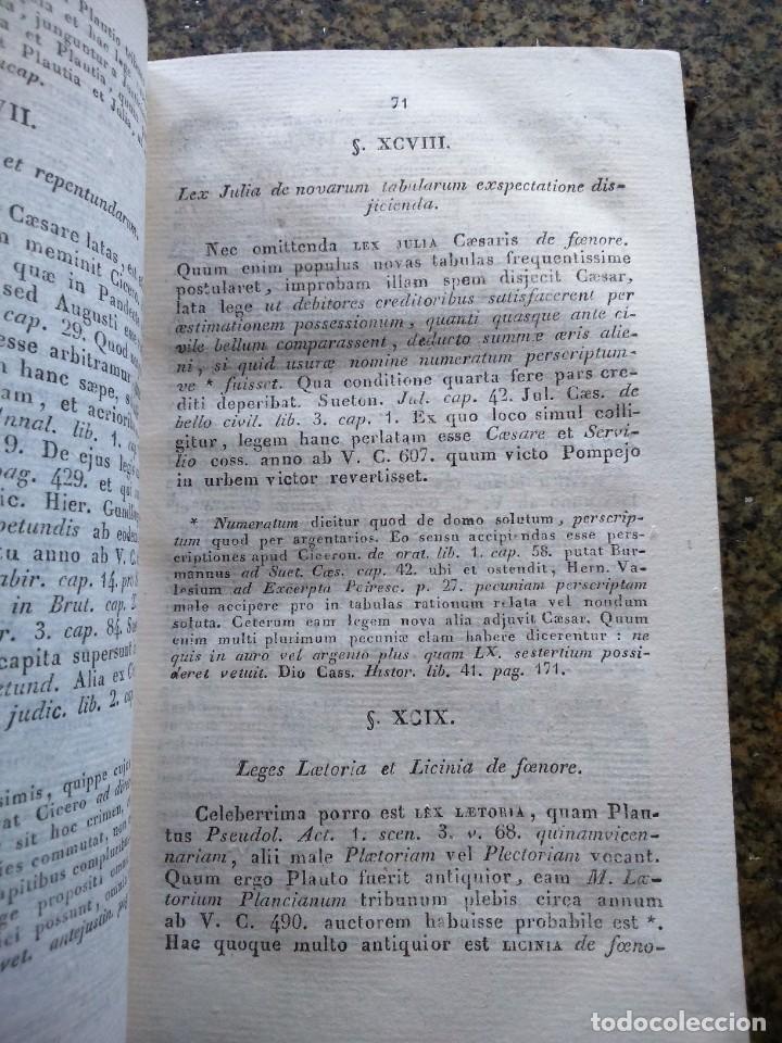 Libros antiguos: HISTORIA JURIS ROMANI -- EDITIO SECUNDA HISPANA -- TOMO 1 -- JO. GOT. HEINECCII -- 1825 -- - Foto 2 - 164533970