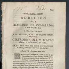 Libros antiguos - 1749 - Pleito familia Serrat i Callis - Cataluña - Derecho - 164699614