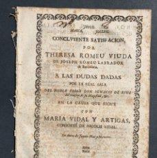 Libros antiguos - 1738 - Pleito Familias Termens, Artigas y Ferrer - Cataluña - Derecho - 164700346