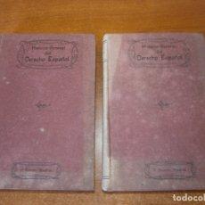 Libros antiguos: HISTORIA GENERAL DEL DERECHO ESPAÑOL. TOMO I Y II. AÑOS 1907-1908. Lote 165305982