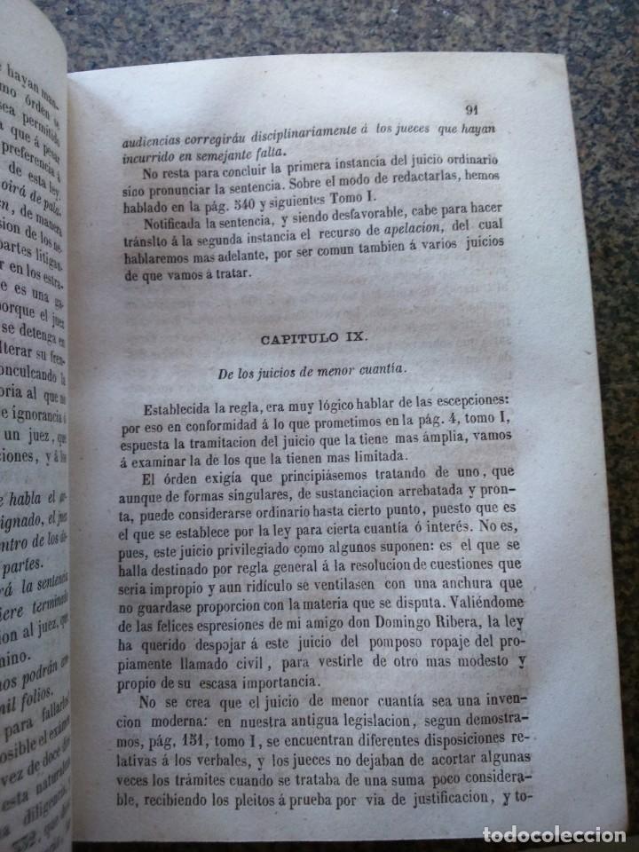 Libros antiguos: TRATADO DE PRACTICA FORENSE NOVISIMA -- TOMO 2 Y 3 -- MARIANO NOUGUES SECALL -- MADRID 1857 -- - Foto 3 - 165447666