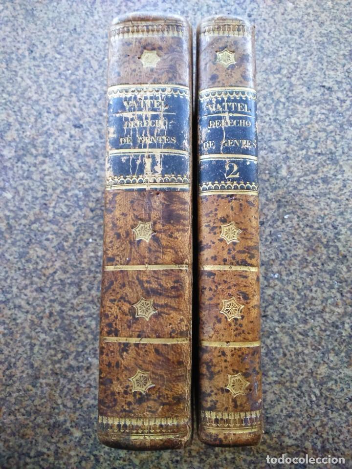 EL DERECHO DE GENTES O PRINCIPIOS DE LA LEY NATURAL -- TOMO 1 Y 2 - VATELL -- MADRID 1834 -- (Libros Antiguos, Raros y Curiosos - Ciencias, Manuales y Oficios - Derecho, Economía y Comercio)