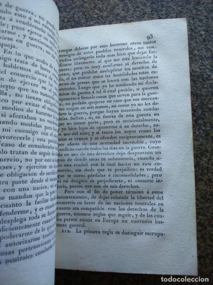 Libros antiguos: EL DERECHO DE GENTES O PRINCIPIOS DE LA LEY NATURAL -- TOMO 1 Y 2 - VATELL -- MADRID 1834 -- - Foto 4 - 165450098