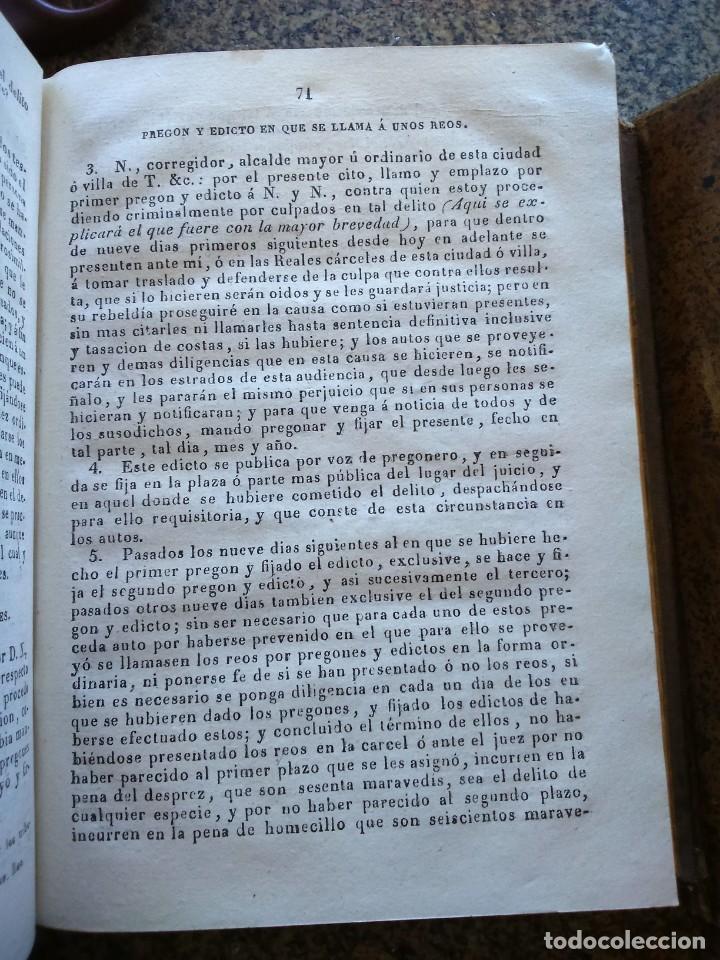Libros antiguos: FEBRERO NOVISIMO O LIBRERIA DE JUECES, ABOGADOS Y ESCRIBANOS - EUGENIO DE TAPIA - 3ª EDICION 1837 -- - Foto 5 - 165456434