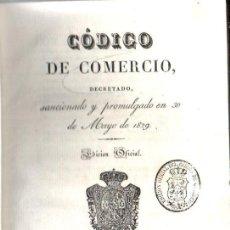 Libros antiguos: CÓDIGO DE COMERCIO - EDICIÓN OFICIAL 1829. Lote 165812886