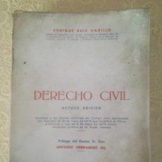 Libros antiguos: DERECHO CIVIL. ENRIQUE RUIZ VADILLO. BILBAO 1975-76. Lote 194686868