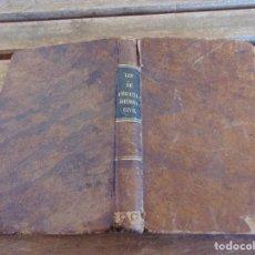 Libros antiguos: LEY ENJUICIAMIENTO CIVIL EDICION OFICIAL, MADRID 1855 6 HOJAS DE NOTAS MANUSCRITAS. Lote 166131454