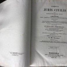 Libros antiguos: CORPUS JURIS CIVILIS.. Lote 165890366