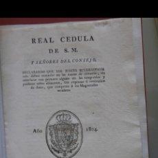 Libros antiguos: REAL CEDULA DE S.M. Y SEÑORES DEL CONSEJO. DECLARANDO QUE LOS JUECES ECLESIASTICOS SOLO DEBEN..... Lote 166437478