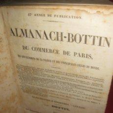 Libros antiguos: ALMANACH - BOTTIN DU COMERCE DE PARIS 1844. AU BUREAU DE L'ALMANACH DU COMERCE.. Lote 166483162
