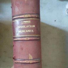 Libros antiguos: LEGISLACION MERCANTIL UNIVERSAL O TRATADO DIDACTICO DE DERECHO MERCANTIL. SEGUIDO DE LA LEGISLACION. Lote 166562770