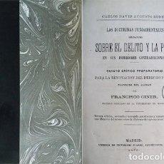 Libros antiguos: RÖDER, K. LAS DOCTRINAS FUNDAMENTALES REINANTES SOBRE EL DELITO Y LA PENA EN SUS INTERIORES... 1876.. Lote 166773742