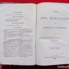 Libros antiguos: AÑO: 1867. REVISTA DEL NOTARIADO Y DEL REGISTRO DE LA PROPIEDAD. AÑO COMPLETO DEL Nº 1 AL 52.. Lote 167903840