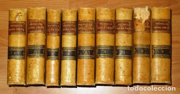 HEINECCIUS, IOHANN GOTTLIEB. OPERA OMNIA. - GENEVAE : SUMPTIBUS FRATRUM DE TOURNES, 1765-1771 (Libros Antiguos, Raros y Curiosos - Ciencias, Manuales y Oficios - Derecho, Economía y Comercio)