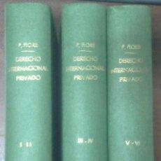 Libros antiguos: DERECHO INTERNACIONAL PRIVADO (PASQUALE FIORE 1889) 6 VOLS. EN 3 TOMOS. SIN USAR. Lote 177211418
