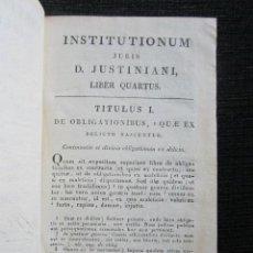 Libros antiguos: AÑO 1826. INSTITUTONIUM IMPERIALIUM. ARNOLDI VINNII J.C. TOMO IV. ILDEPHONSI MONPIÉ.. Lote 168563252