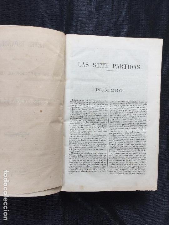 Libros antiguos: Las Siete Partidas. 1867. - Foto 3 - 168595900