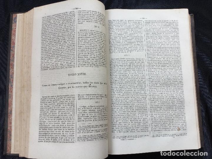 Libros antiguos: Las Siete Partidas. 1867. - Foto 4 - 168595900