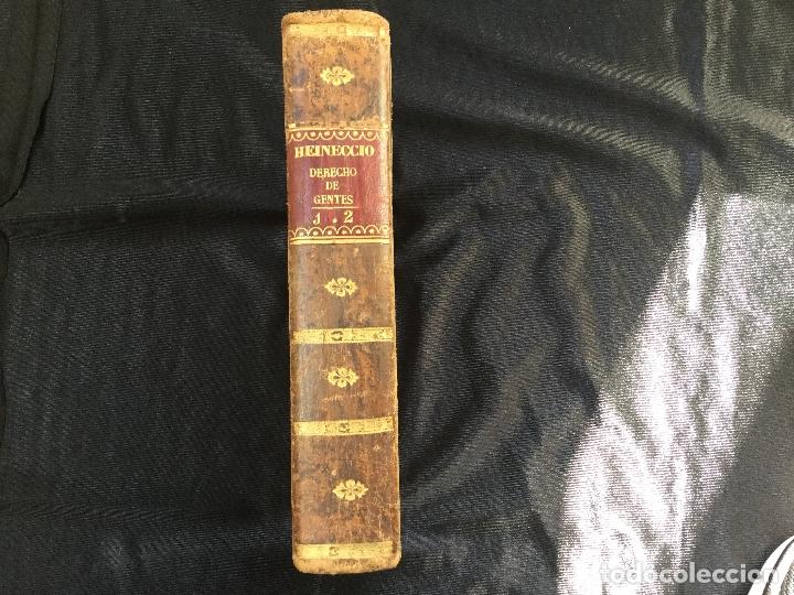 ELEMENTOS DEL DERECHO NATURAL Y DE GENTES DE HEINECCIO. TOMOS I Y II (Libros Antiguos, Raros y Curiosos - Ciencias, Manuales y Oficios - Derecho, Economía y Comercio)