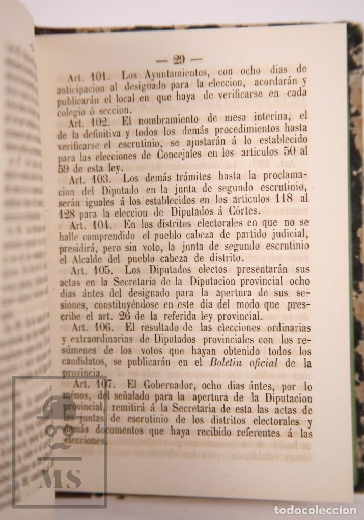 Libros antiguos: Antiguo Libro Ley Electoral de 1870 - Imp. de José Antonio Nel-lo. Tarragona,1870 - Foto 4 - 168671124