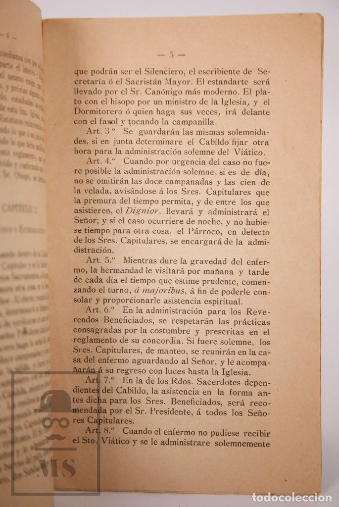 Libros antiguos: Antigua Publicación Hermandad de Sufragios y Entierros de la Santa Iglesia Catedral de Tortosa, 1903 - Foto 3 - 168671444