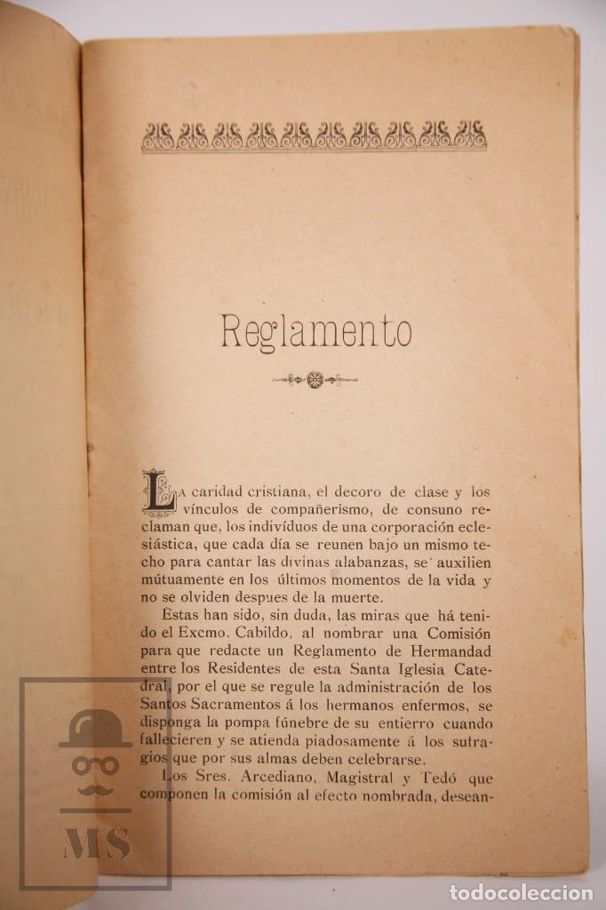 Libros antiguos: Antigua Publicación Hermandad de Sufragios y Entierros de la Santa Iglesia Catedral de Tortosa, 1903 - Foto 4 - 168671444