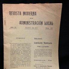 Libros antiguos: REVISTA MODERNA DE ADMINISTRACION LOCAL, PREVARICACION FUNCIONARIOS, AÑO 1917, 40PAGS. MIDE 24X17CMS. Lote 168681564