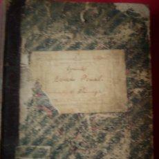 Libros antiguos: APUNTES DE DERECHO PENAL MANUSCRITO 1890-1900. Lote 168688484