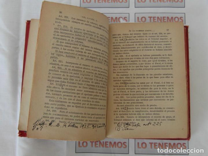 Libros antiguos: Libro Ley de enjuiciamiento criminal de 1882 - Foto 7 - 168714368