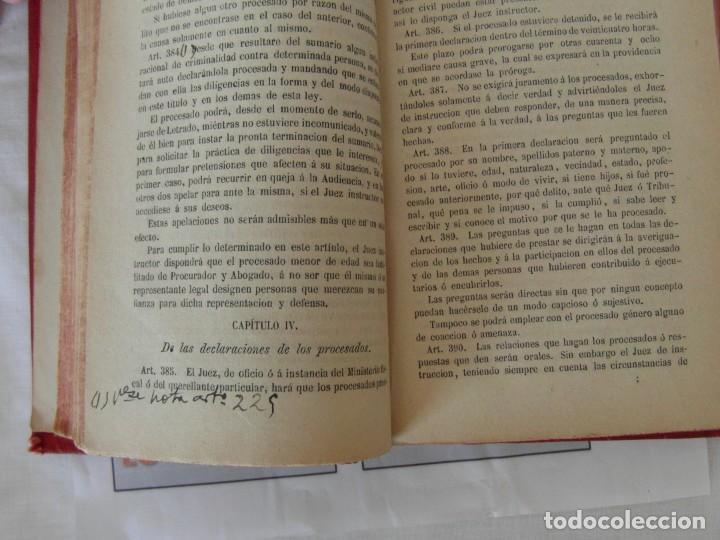 Libros antiguos: Libro Ley de enjuiciamiento criminal de 1882 - Foto 8 - 168714368