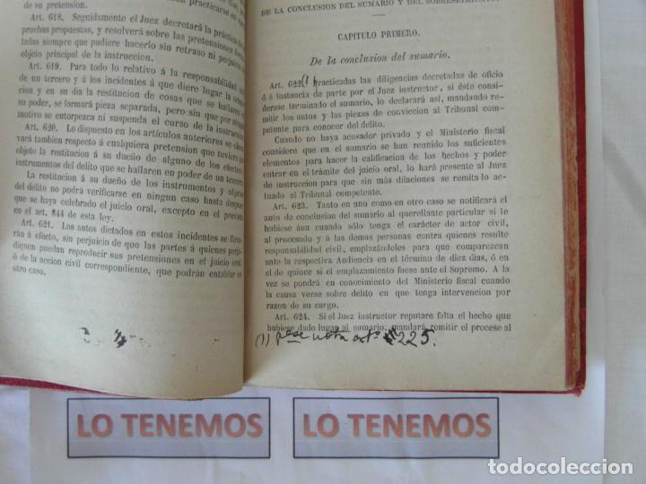 Libros antiguos: Libro Ley de enjuiciamiento criminal de 1882 - Foto 9 - 168714368