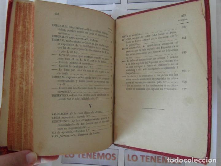 Libros antiguos: Libro Ley de enjuiciamiento criminal de 1882 - Foto 10 - 168714368