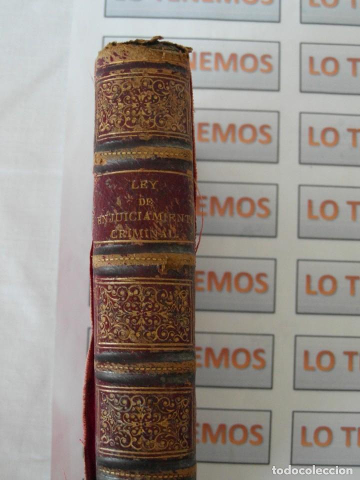 Libros antiguos: Libro Ley de enjuiciamiento criminal de 1882 - Foto 14 - 168714368