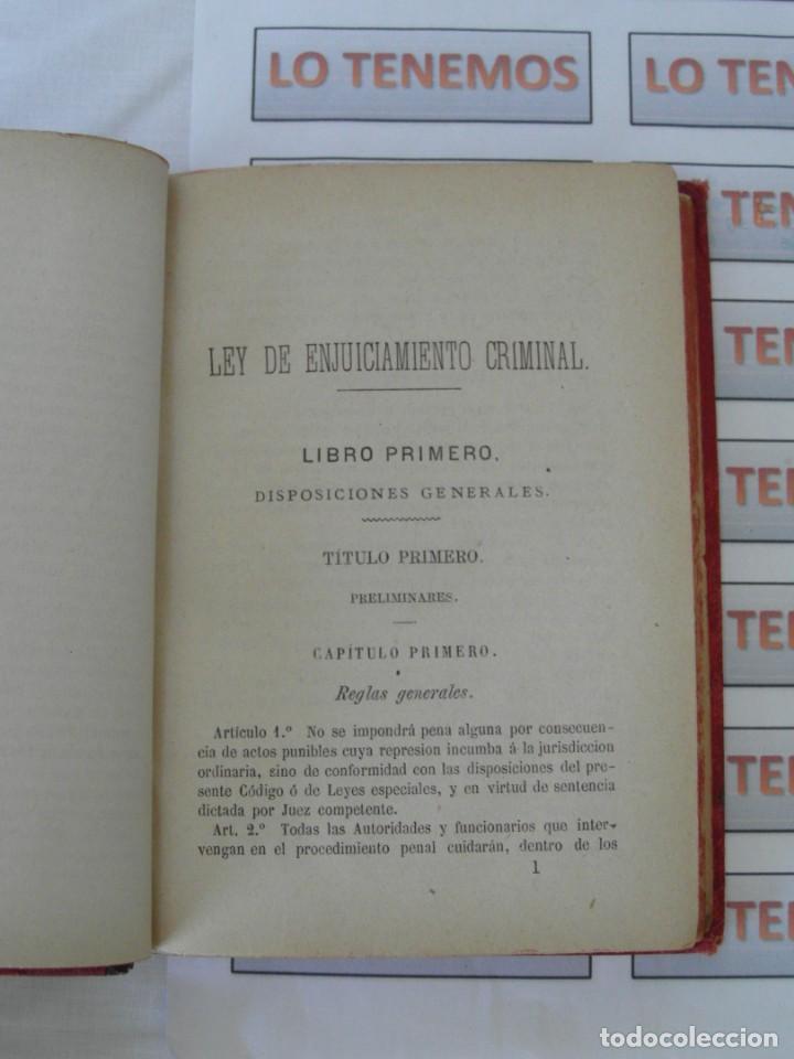 Libros antiguos: Libro Ley de enjuiciamiento criminal de 1882 - Foto 16 - 168714368