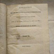 Libros antiguos: DECRETOS Y ÓRDENES GENERALES, EXPEDIDOS POR LAS CORTES. AÑO 1822.. Lote 168841112