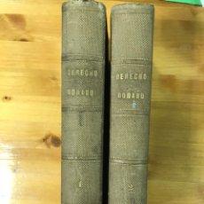 Libros antiguos: DERECHO ROMANO. 2 TOMOS.. Lote 168876636