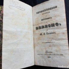 Libros antiguos: INTRODUCCIÓN GENERAL A LA HISTORIA DEL DERECHO. M. E. LEMINIER. Lote 169194204