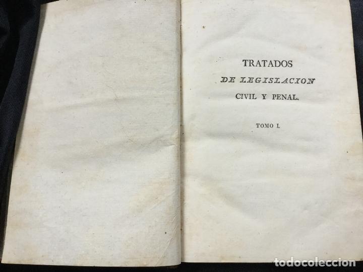 Libros antiguos: Tratados de Legislación civil y penal. Jeremias Bentham. Tomo I - Foto 2 - 169259900