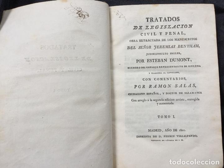 TRATADOS DE LEGISLACIÓN CIVIL Y PENAL. JEREMIAS BENTHAM. TOMO I (Libros Antiguos, Raros y Curiosos - Ciencias, Manuales y Oficios - Derecho, Economía y Comercio)