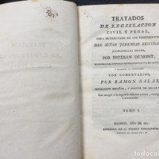 Libros antiguos: TRATADOS DE LEGISLACIÓN CIVIL Y PENAL. JEREMIAS BENTHAM. TOMO I. Lote 169259900